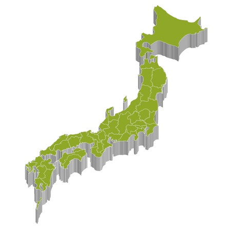 he is no background: Map of Japan Illustration