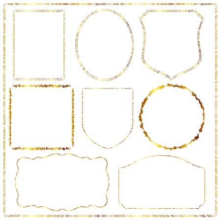 he is no background: gold frame Illustration