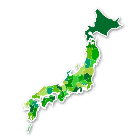 and he no background: Map of Japan Illustration