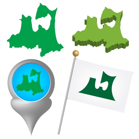 japan map Stock Vector - 16520170