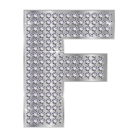 plating: F alphabet