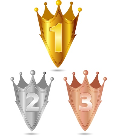 Gold silver copper crown crown Stock Vector - 17861543