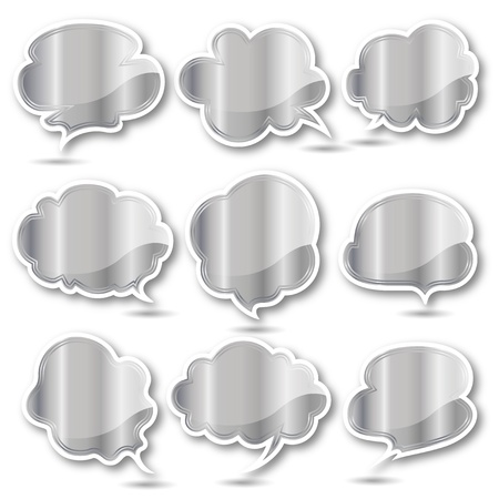 Silver balloon frame Vector