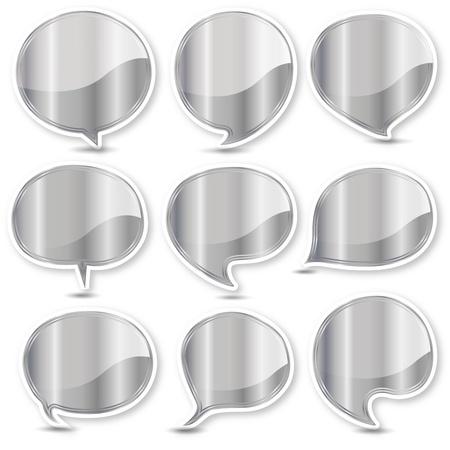 Silver balloon frame Stock Vector - 17861520