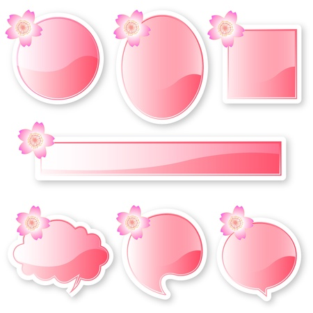 Sakura balloon frame Stock Vector - 17861517