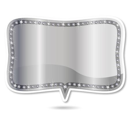 ダイヤモンド フレームはシャボン玉を吹く  イラスト・ベクター素材