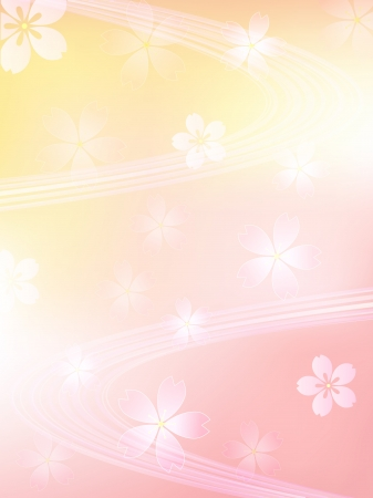 Pink cherry ripple background Illustration