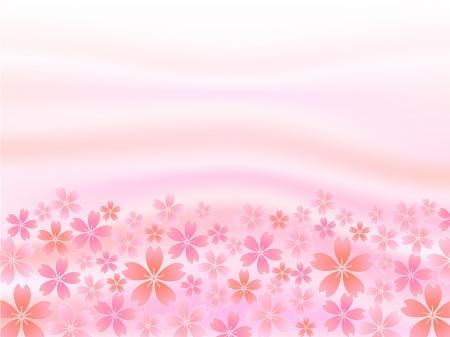 봄 분홍색 벚꽃 배경 일러스트