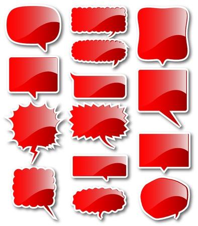 Red balloon frames balloon Stock Vector - 17962845