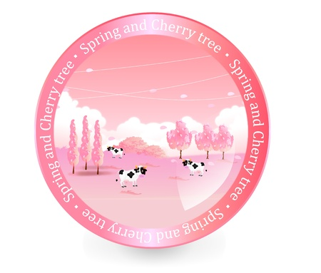 Bubbles cattle ranch cherry Stock Vector - 17962722