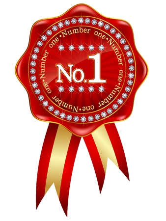 Number one red frame Vector