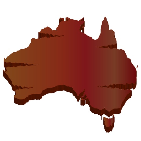 plateau: Australia 3D map wilderness Illustration