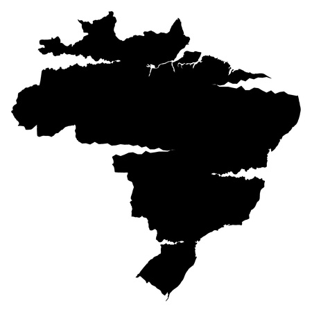 plateau: 3D map wilderness Brazil Illustration