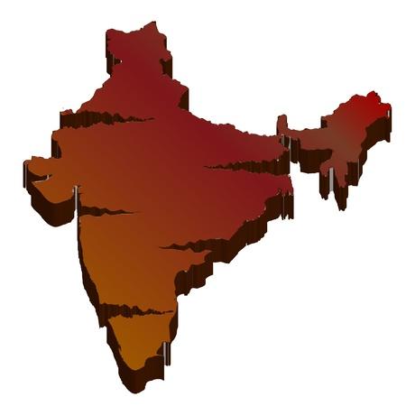 plateau: India map silhouette background Illustration