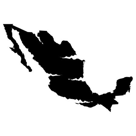 plateau: 3D map background Mexico Illustration