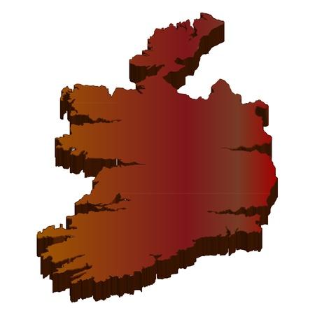 3D map wilderness Ireland Stock Vector - 18002926