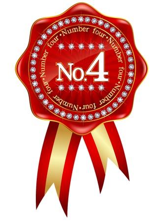 4 Red ribbon frame Stock Vector - 18047822