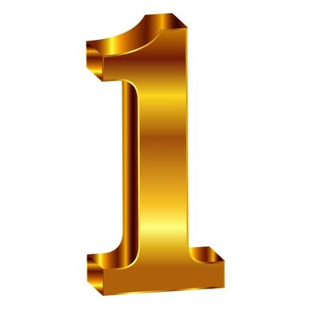 numero uno: Oro emblema número 1
