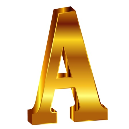 A gold emblem alphabet Vector