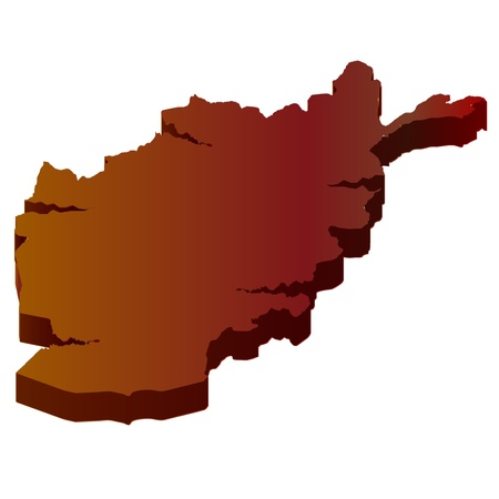 plateau: 3D map wilderness Afghanistan