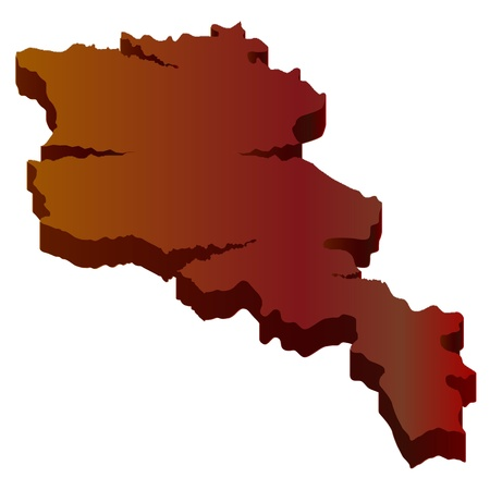 plateau: 3D map wilderness Armenia