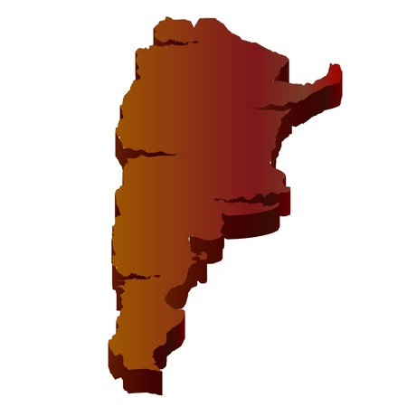 Mapa 3D desierto Argentina Foto de archivo - 18075450