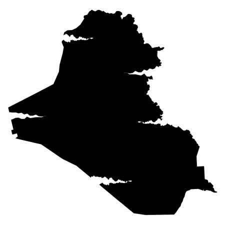 plateau: Iraq map silhouette Illustration