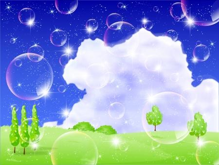plateau: Bubbles Nature plateau Illustration