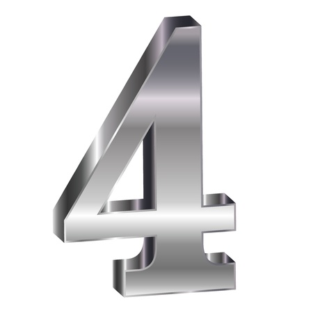 he is no background: Silver emblem number 4
