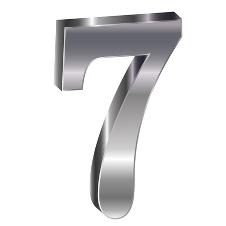 he is no background: Silver emblem number 7