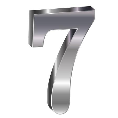 he no background: Silver emblem number 7