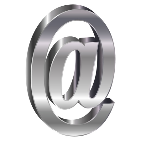At sign @ 3D-mail Stock Vector - 18178759