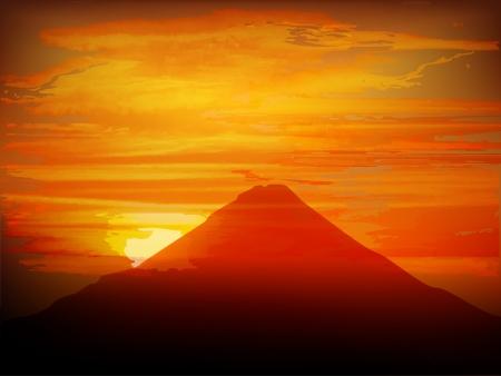 sun s: Fuji sfondo