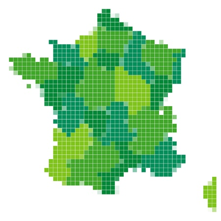France map mosaic Vector