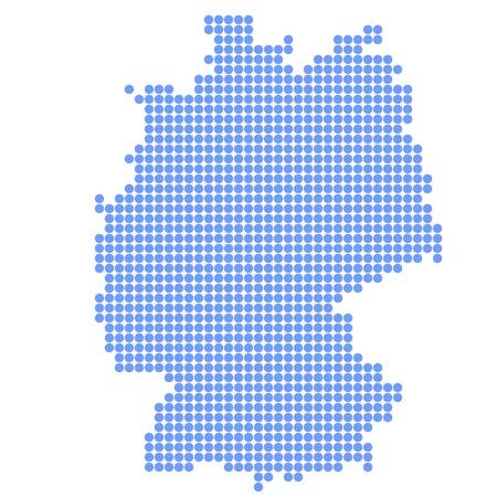 germany map: Germany map round Illustration
