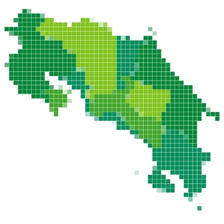 costa rica: Costa Rica map mosaic Illustration