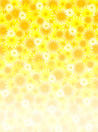 petal: Yellow flower petal background Illustration