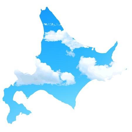 Hokkaido sky map Stock Vector - 18379076
