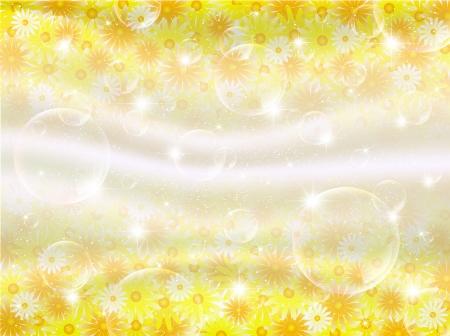 petal: Flower petal soap bubble background