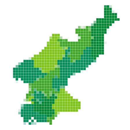 north korea: North Korea map mosaic