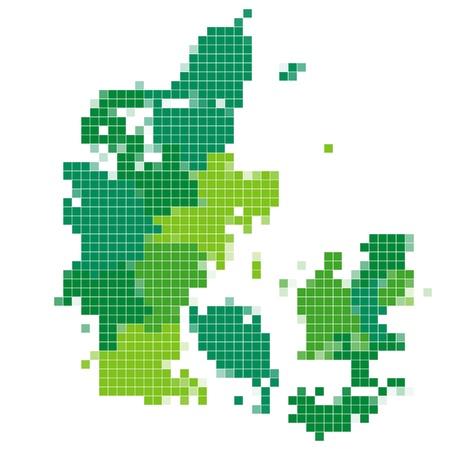 Denmark map mosaic Stock Vector - 18379065