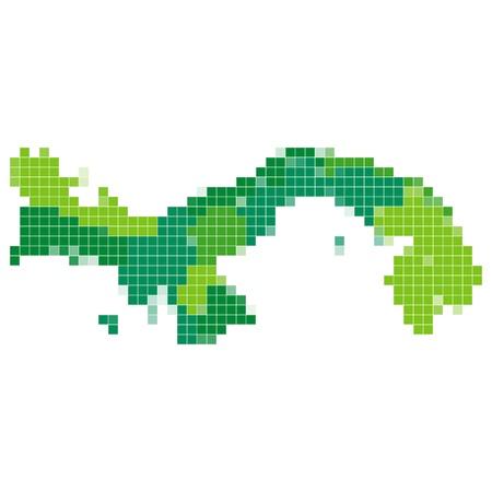 Panama map mosaic