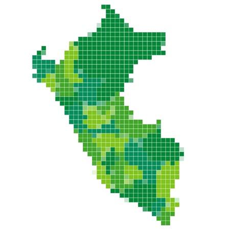 peru map: Peru map mosaic