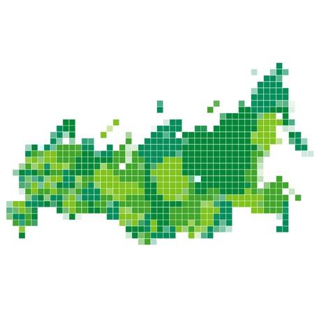 russland karte: Russland-Karte Mosaik