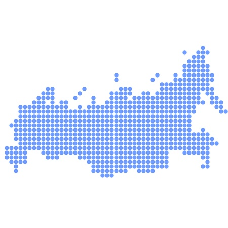 Russia map round Vector