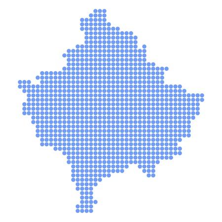 Kosovo map round