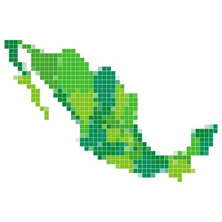 メキシコ地図モザイク
