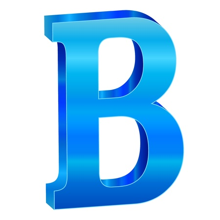 Blue alphabet B Stock Vector - 18639500