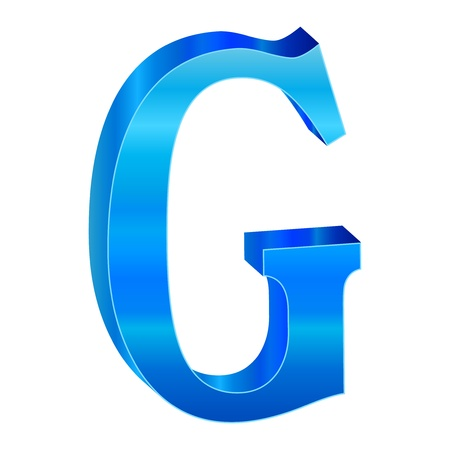 Blue alphabet G Stock Vector - 18639497