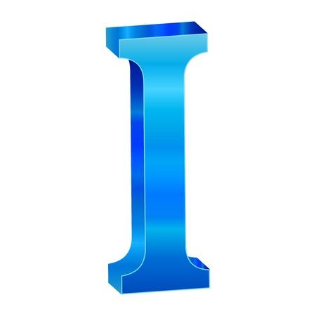 Blue alphabet I Stock Vector - 18639495